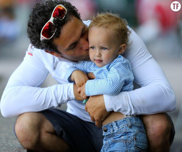 Tanguy de Lamotte et son fils Billy, bientôt 2 ans.