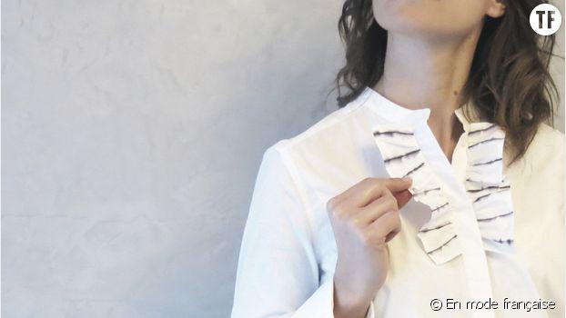 La chemise à volants du blog En mode française