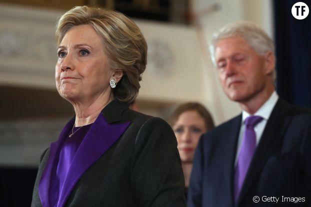 Hillary Clinton, le 9 novembre 2016, fait un discours après sa défaite
