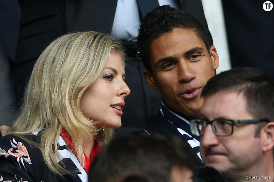 Raphaël Varane et sa femme Camille Tytgat