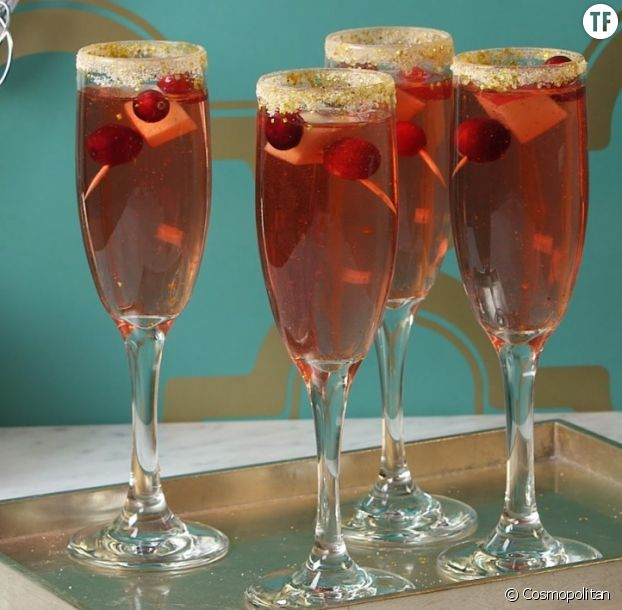 Cranberry Glitter Mimosa, recette