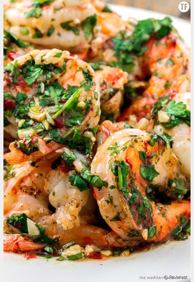 Crevettes grillées à l'ail