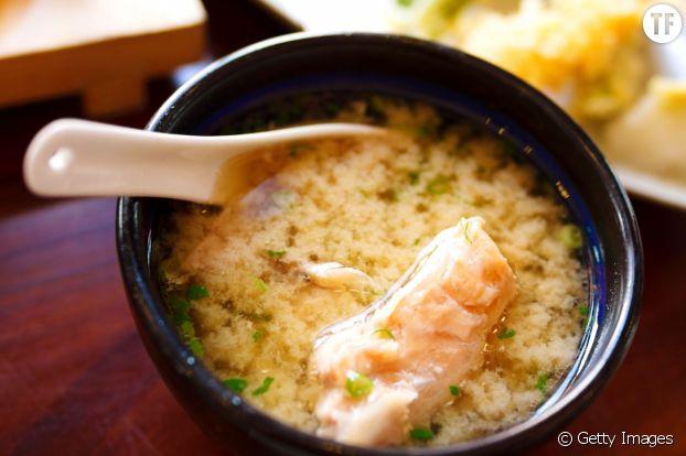 La soupe miso de fait que 40 Kcal