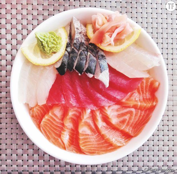 """Les sashimis sont riches en """"bonnes"""" graisses et en protéines"""