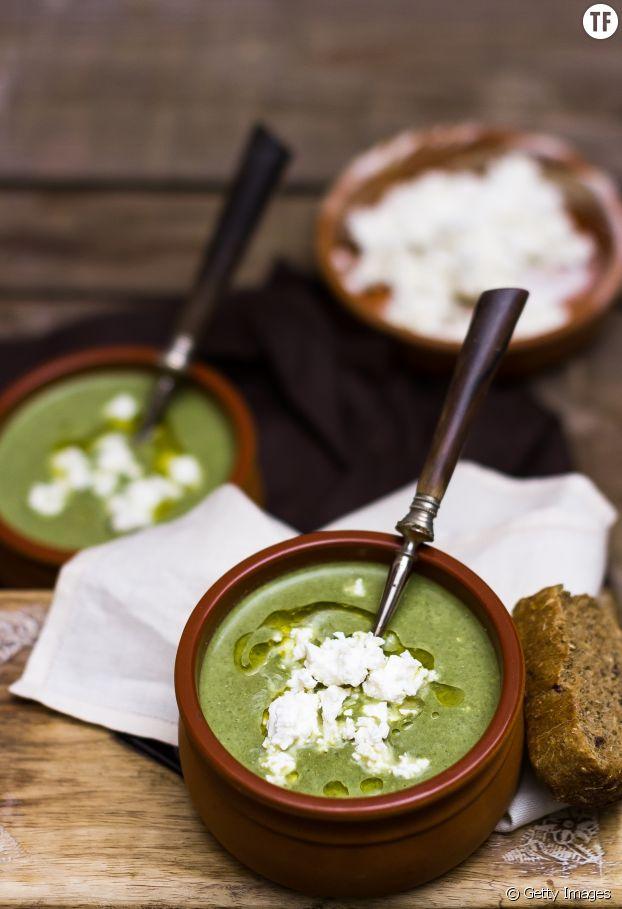 La soupe froide aux courgettes