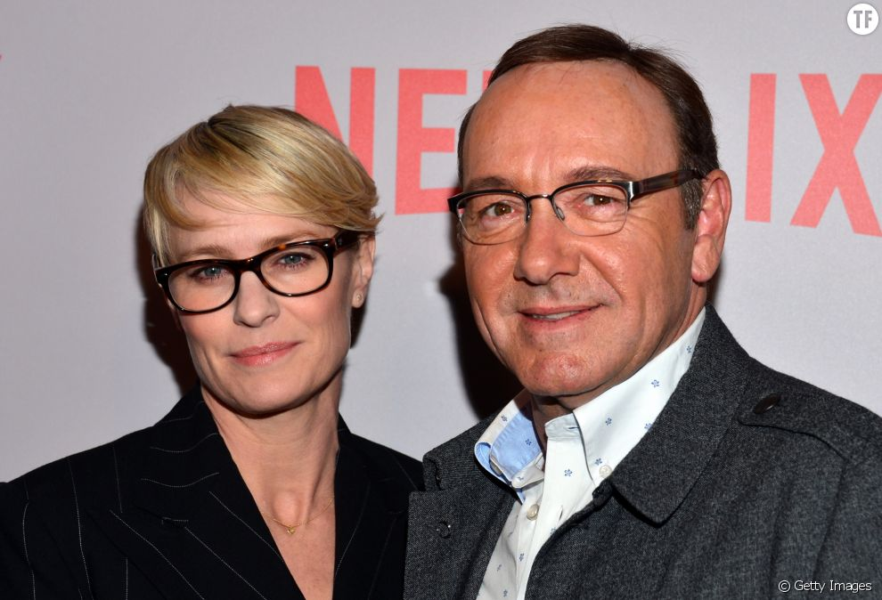 Robin Wright et Kevin Spacey en 2015