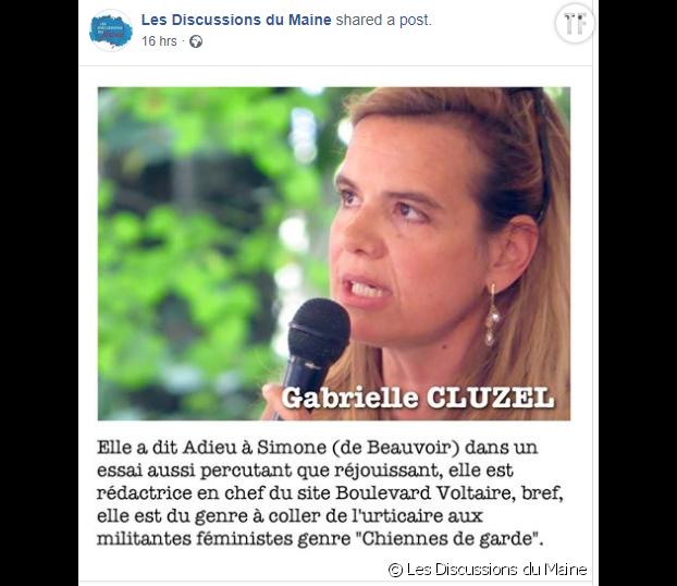 La présentation de Bérénice Levet sur la page de l'événement