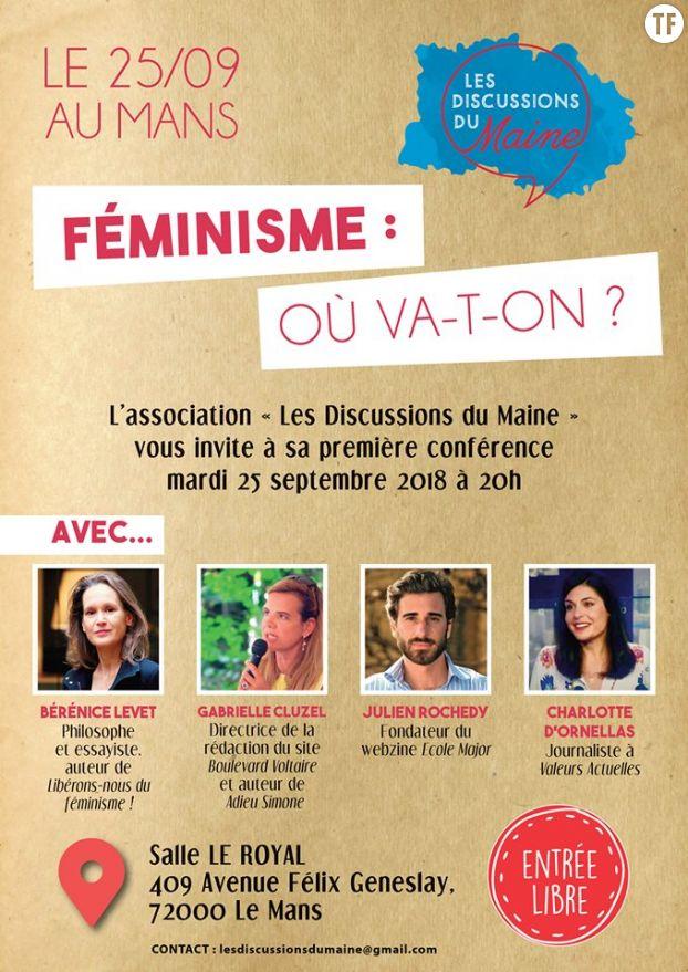 Féminisme : où va-t-on ?, le débat organisé au Mans