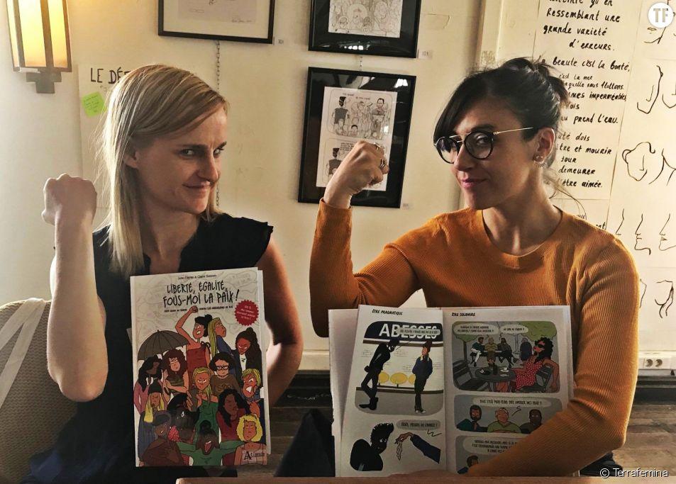 Féministival : on a rencontré Julie Clavier (à gauche) et Claire Gosnon (à droite), autrices d'une BD sur le harcèlement