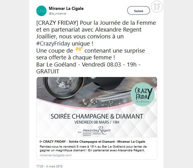 Coupe de champagne gratuite