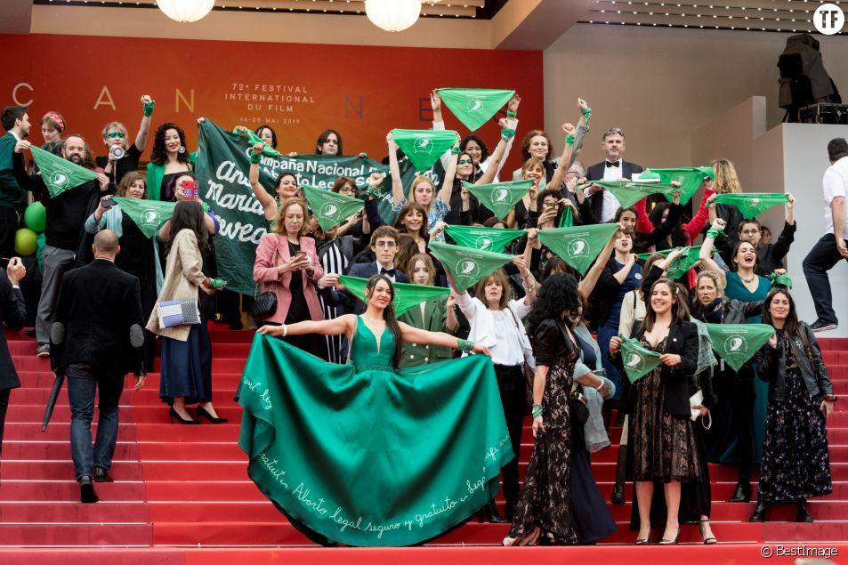 Des Argentines en vert défendent leur droit à l'IVG sur le tapis rouge de Cannes