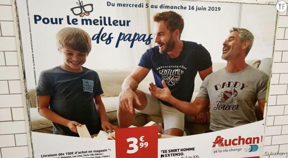 Affiche Auchan dans le métro parisien