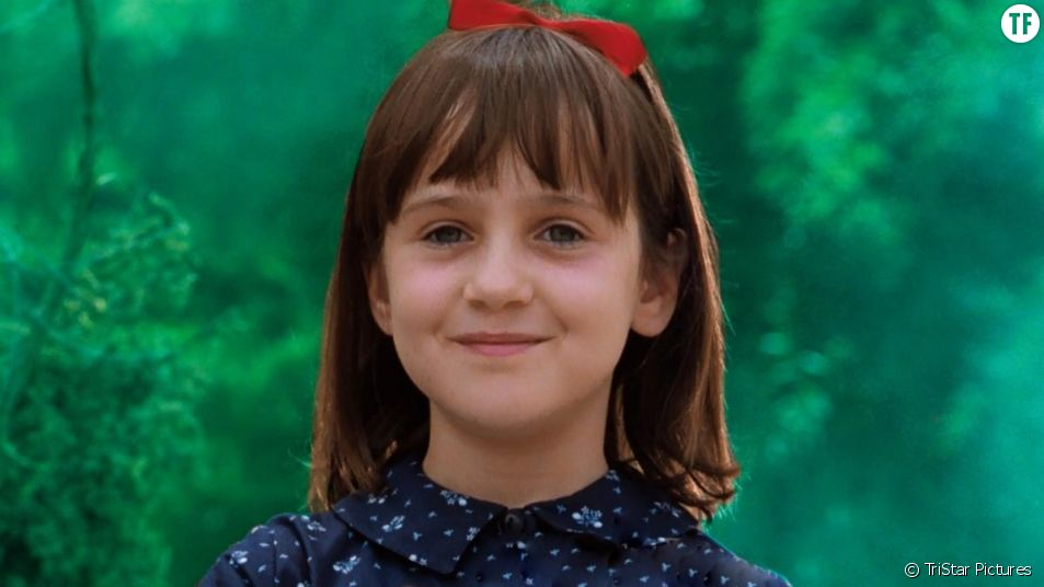 "Mara Wilson dans ""Matilda"" de Danny DeVito."