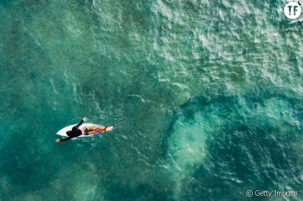 Sur la vague, je recherche des sensations.