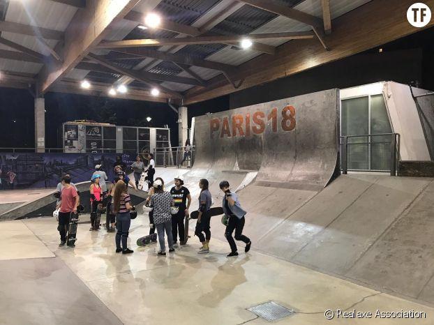 Les skateuses de Realaxe en plein training à l'EGP 18.