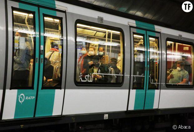 La ligne 1 du métro parisien le 11 mai 2020