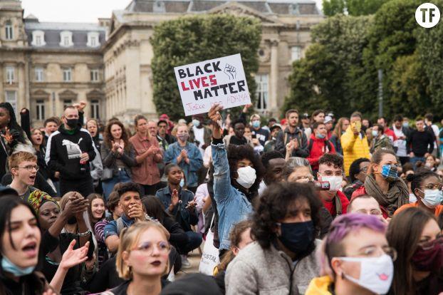 Manifestation antiraciste à Lille le 10 juin 2020