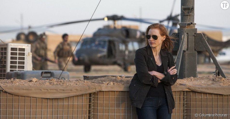 "Jessica Chastain, double de Kathryn Bigelow dans ""Zero Dark Thirty""."
