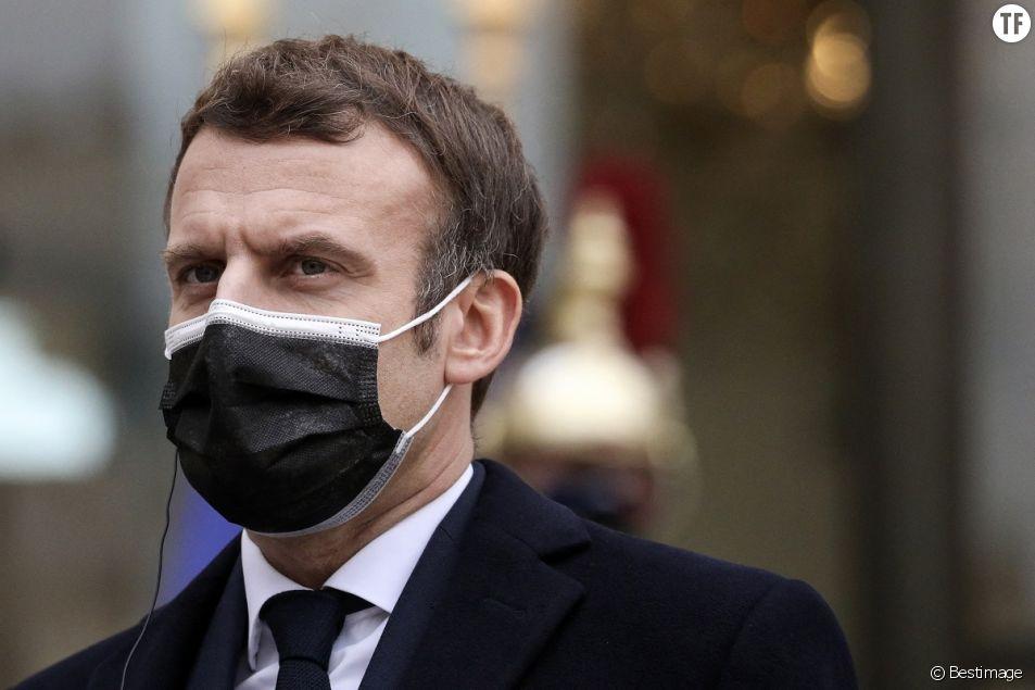 Le président Emmanuel Macron à l'Elysée le 18 décembre 2020.
