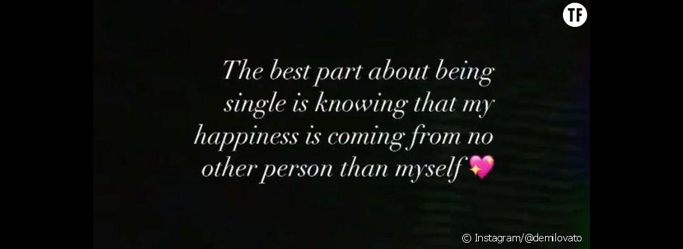 """""""Ce qu'il y a de mieux dans le fait d'être célibataire, c'est de savoir que mon bonheur ne vient de personne d'autre que moi""""."""