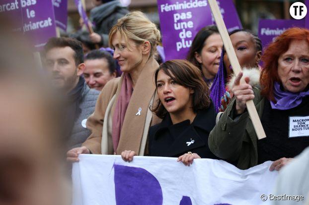 Emma de Caunes à la marche féministe #NousToutes, le 23 novembre 2019