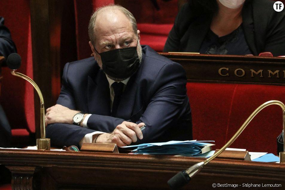 Eric Dupond-Moretti, ministre de la justice, garde des Sceaux, à l'Assemblée Nationale, le 16 mars 2021.