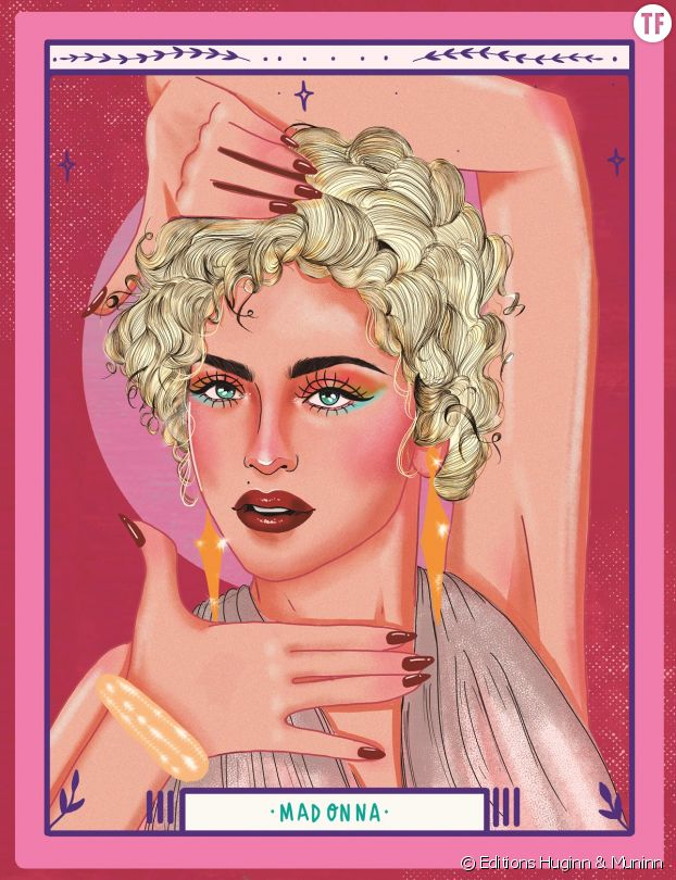 """Madonna, """"diva"""" et papesse de la pop subversive."""