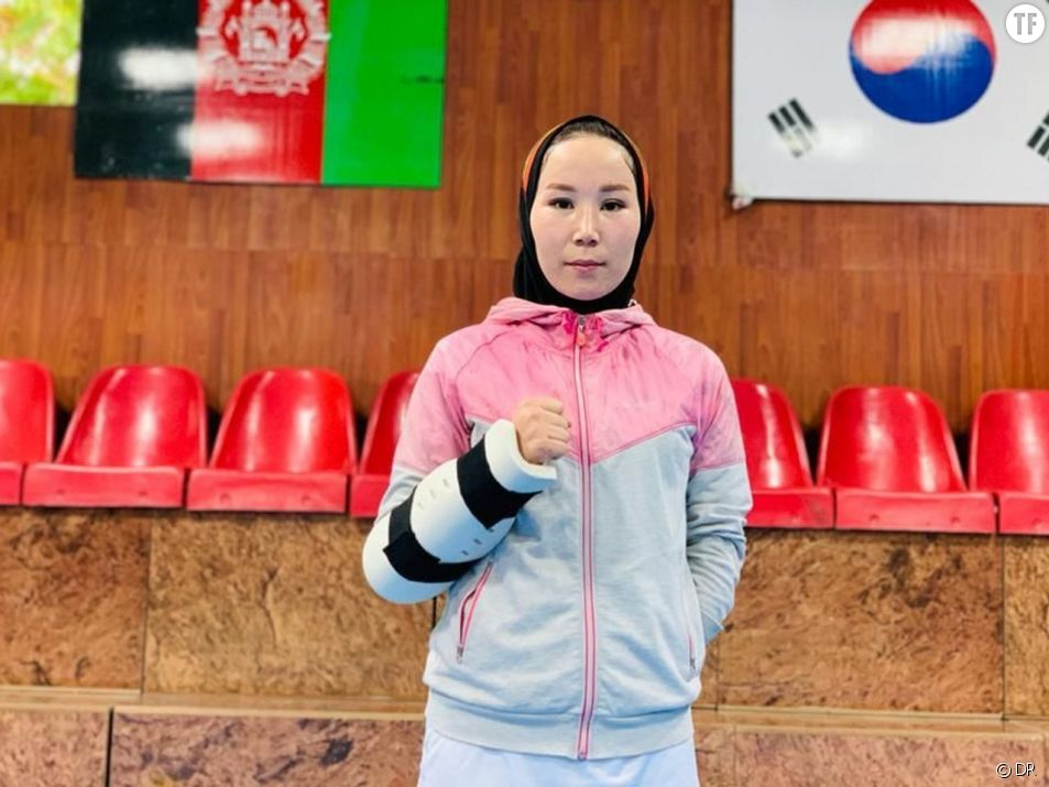 La championne paralypique afghane Zakia Khudadadi