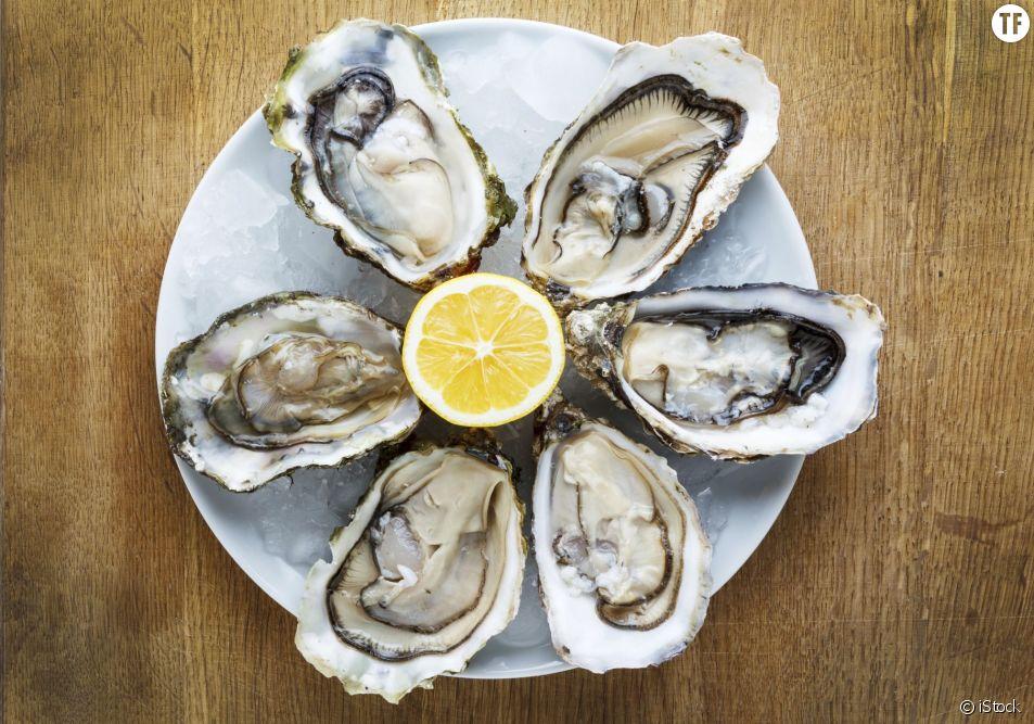 Un plateau d'huîtres
