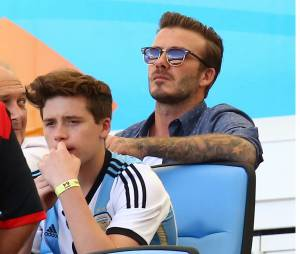 David Beckham et son fils Brooklyn.