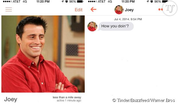 Joey Tribbiani, le king de Tinder.