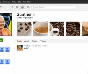 Gunther fait partie des rares humains à se connecter sur Google Plus.