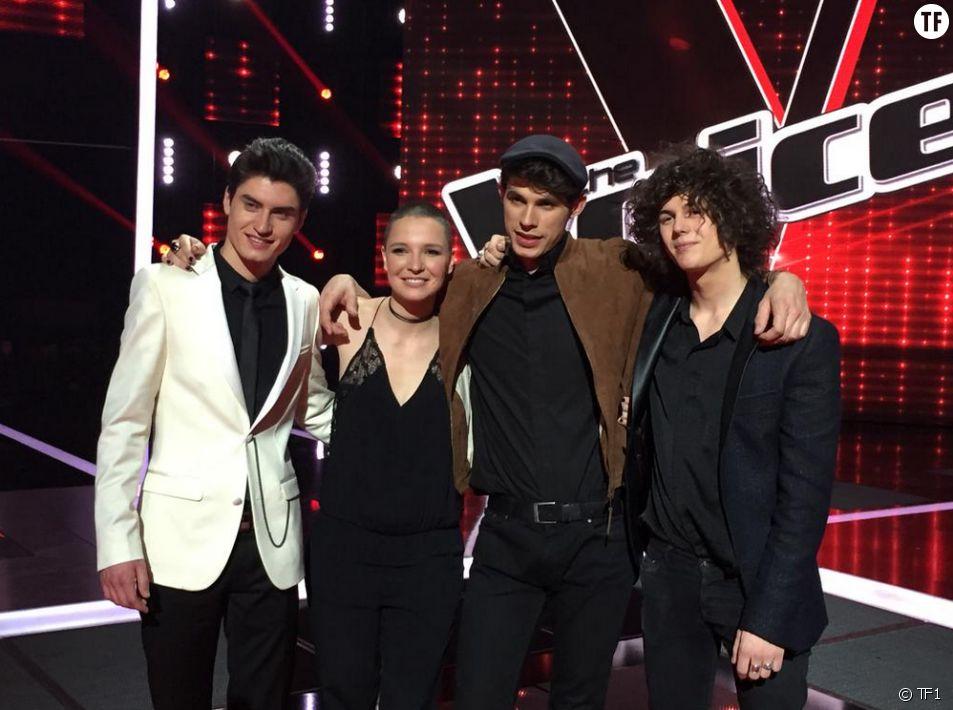 Les quatre finalistes de The Voice 4 : Lilian, Anne Sila, David et Côme