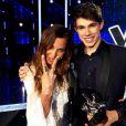 Lilian Renaud, vainqueur de The Voice 4, et sa coach Zazie