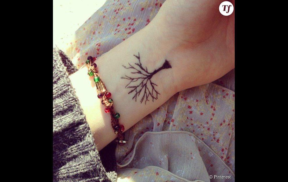 Idee De Tatouage Sur Le Poignet Un Arbre Terrafemina
