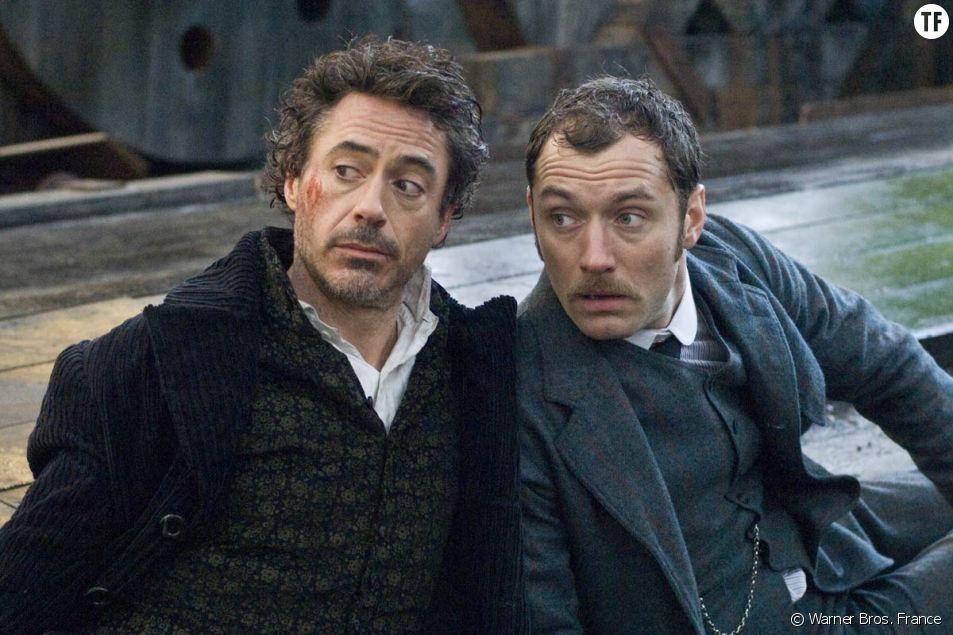 Robert Downey Jr. et Jude Law dans le film Sherlock Holmes.