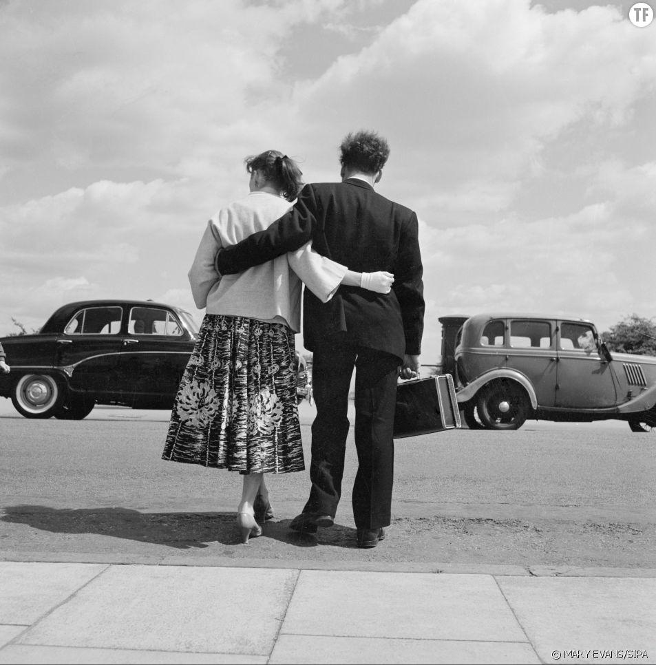 Couple dans les années 60 à Hampstead.