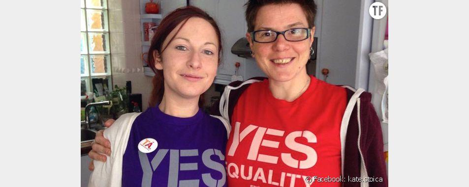 Les Irlandaises Kate et Billie, en couple depuis 6 ans, vont enfin pouvoir se marier.