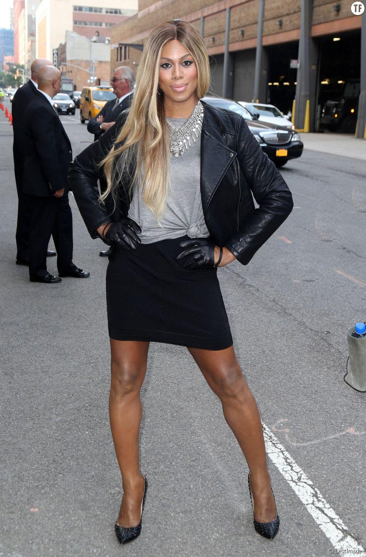Laverne Cox lors du lancement de la saison 3 d'Orange is the black a New York le 11 juin 2015