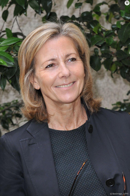 """Claire Chazal en juin dernier à la conférence de presse de l'opération """"La flamme Marie Claire"""""""