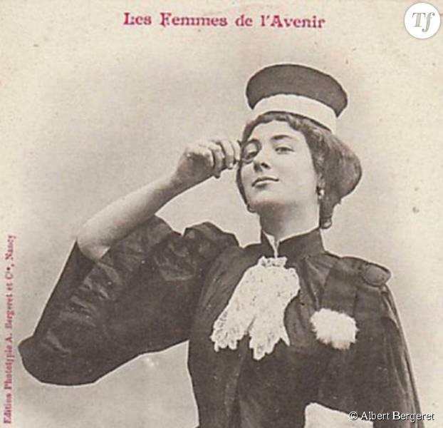 Seulement 5 ans après cette photo moqueuse, Jeanne Chauvin est devenue la première femme avocate française, n'en déplaise à Albert Bergeret.