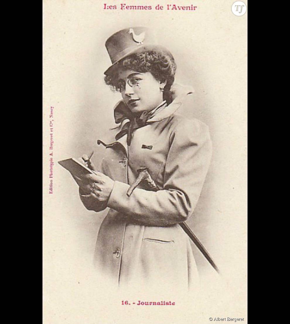 Caricaturée et moquée, elle était jugée incapable d'exercer une profession autre que celle de femme au foyer.