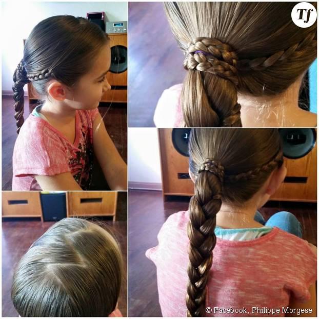Philippe Morgese fait le bonheur de sa fille Emma, à qui il confectionne des coiffures toujours plus complexes !