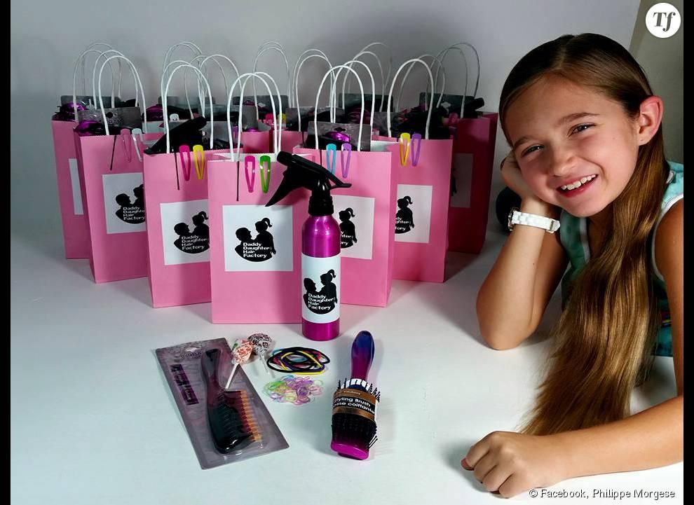 Le nom de son école amateurs dédiée à sa fille : Daddy Daughter Hair Factory.