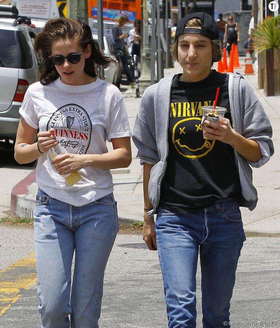 L'actrice Kristen Stewart et Alicia Cargile en juin dernier