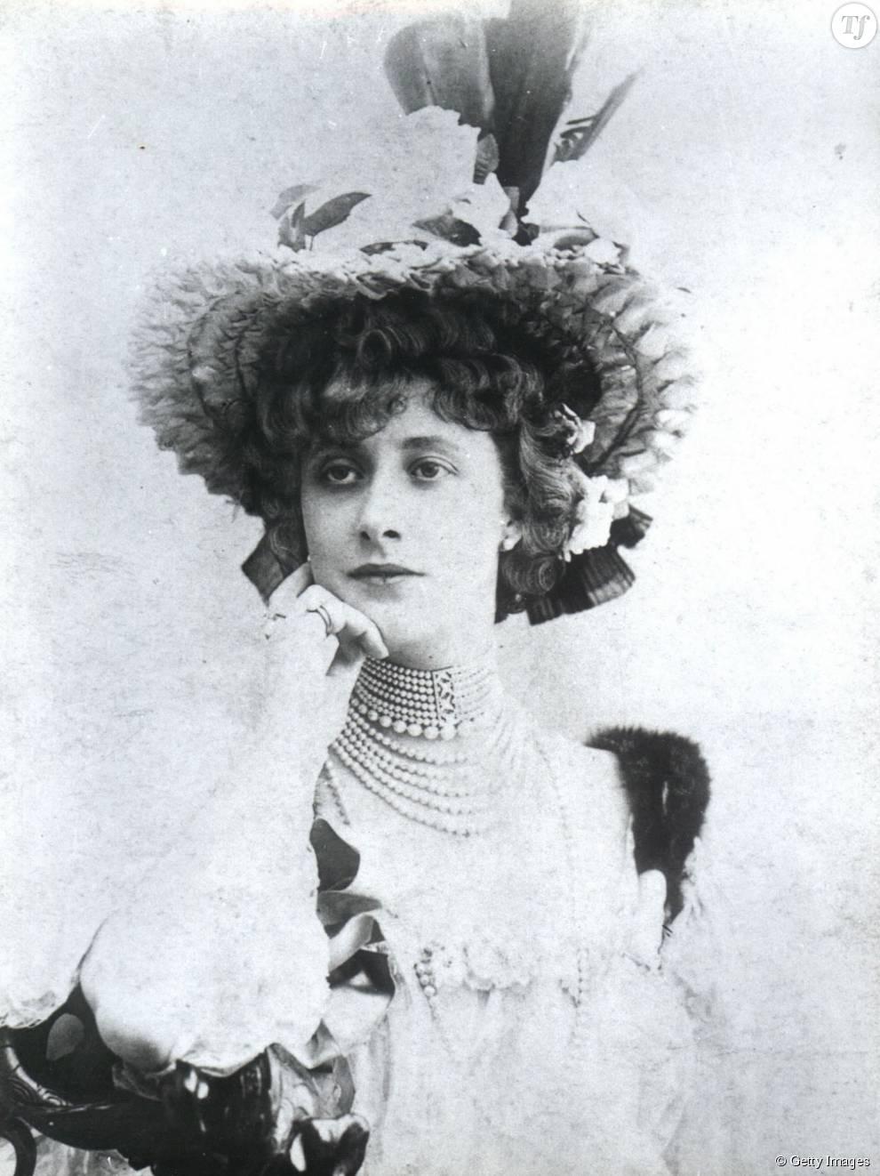 """La courtisane Liane de Pougy (1869-1950), considérée par Edmond de Goncourt comme """"la plus belle femme de son siècle"""""""