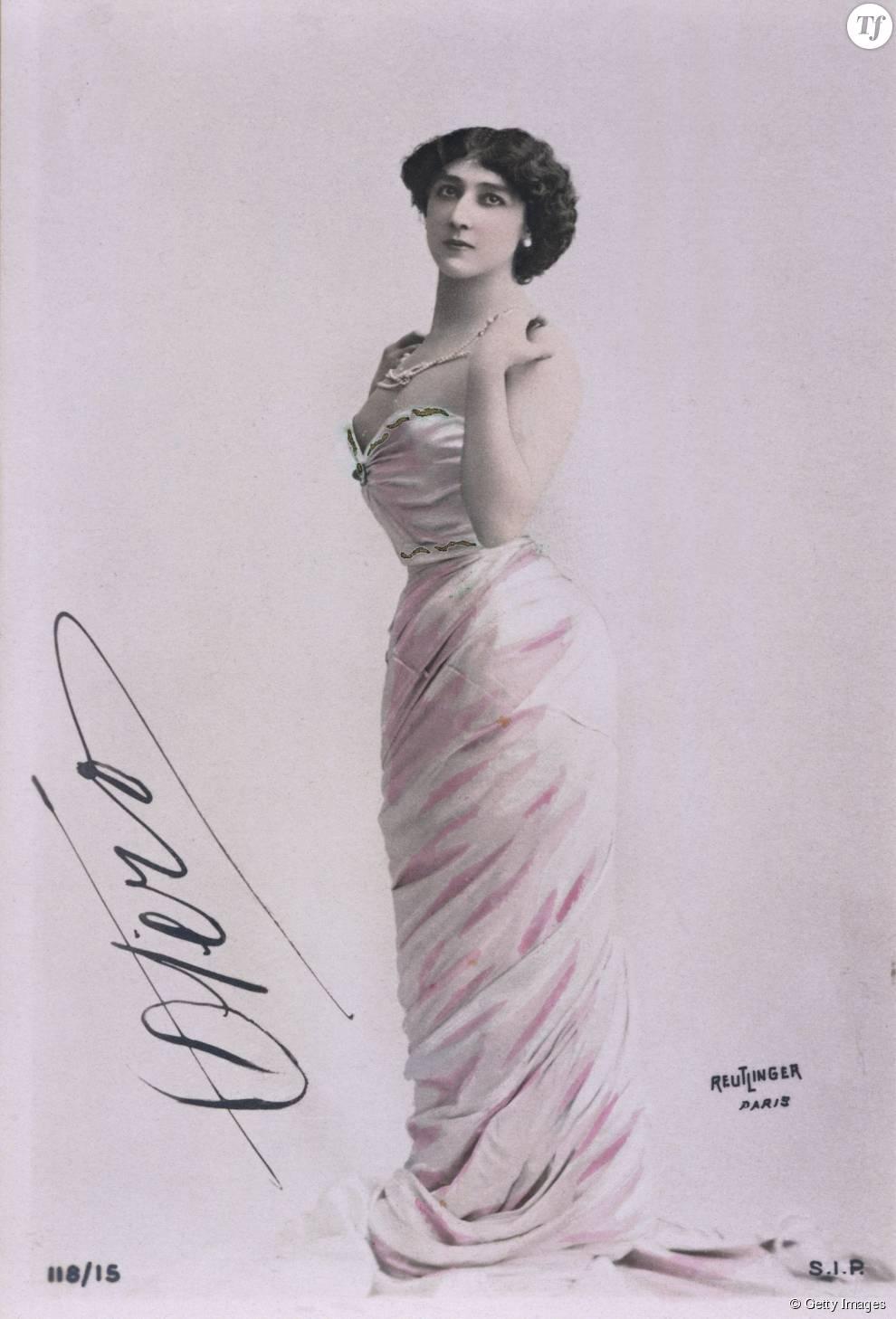 Portrait d'Agustina Otero Iglesias, dite La Bella Otero (1868-1965), daseuse espagnole, acrice et courtisane.