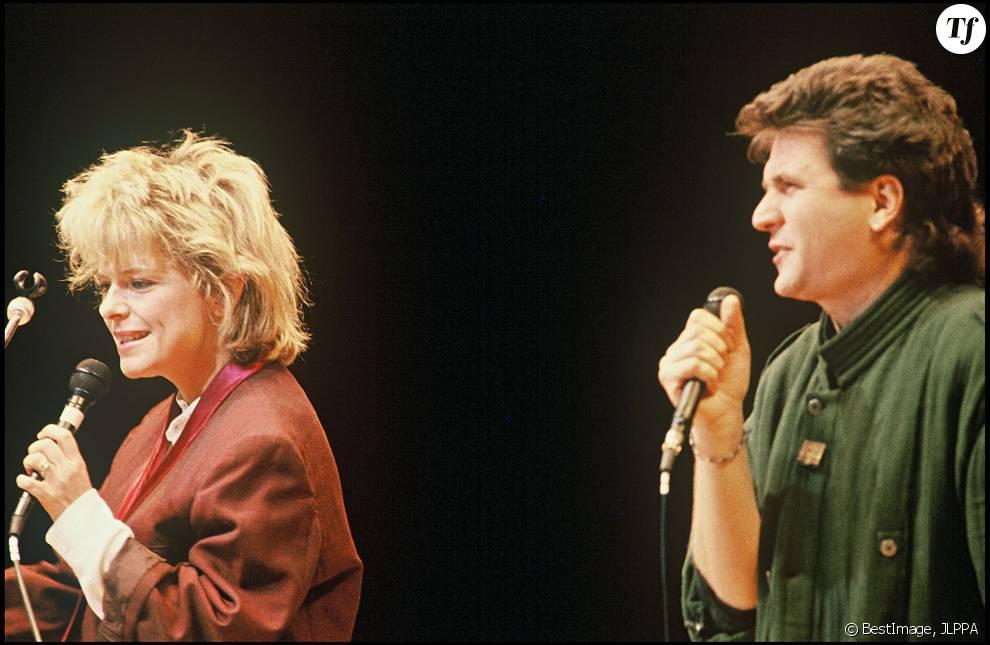 Daniel Balavoine et France Gall en 1985