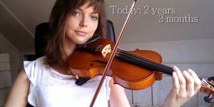 Cette femme inspirante a appris le violon toute seule en 2 ans