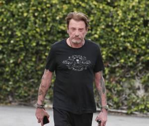 Exclusif - Johnny Hallyday se rend à la salle de sport Gold's Gym à Venice Beach, le 29 janvier 2015.